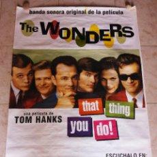 Música de colección: POSTER PROMOCION BANDA SONORA PELICULA THE WONDERS TOM HANKS 40 PRINCIPALES 1996. Lote 124892379