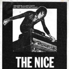 Música de colección: NICE, THE (KEITH EMERSON). PROGRAMA TOUR DE 1969. ORIGINAL U.K.. Lote 125149775