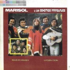 Música de colección: MARISOL: MARISOL Y LOS BOHEMIOS PARAGUAYOS. CUATRICROMÍA, PRUEBA DE COLOR. 7 PÁGINAS. Lote 125190211