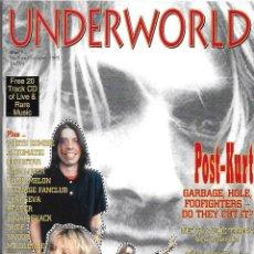 Música de colección: UNDERWORLD Nº 3. REVISTA MUSICAL. VERANO DE 1995. ORIGINAL AUSTRALIA 72 PÁGINAS. EN INGLÉS. CON CD. Lote 125226055