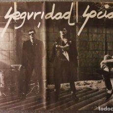 Música de colección: POSTER GRUPO MUSICA SEGURIDAD SOCIAL CITRA PRODUCCIONES AÑOS 80. Lote 151949052