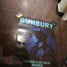 Música de colección: CARTEL BUNBURY MADRID 6 DE JULIO 70X1,00. Lote 206997885