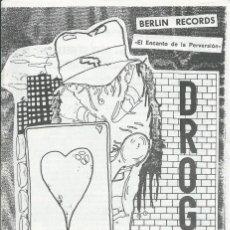 Música de coleção: DROGAS GUAIS, EL ENCANTO DE LA PERVERSION. -LIBRETO DEL K7 DEL MISMO TITULO,ZARAGOZA90-. Lote 127462363