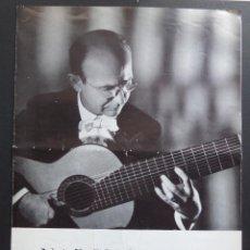 Música de colección: PROGRAMA DE CONCIERTO DE NARCISO YEPES , PALAU DE LA MUSICA DE BARCELONA AÑO 1965. Lote 127549151