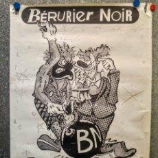 Música de colección: CARTEL CONCIERTO BÉRURIER NOIR. PUNK FRANCES. AÑOS 80. Lote 127762179