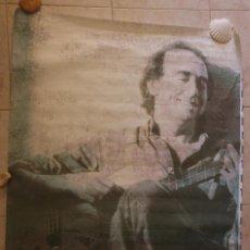 Música de colección: CARTEL JOAN MANUEL SERRAT. AÑOS 90. 40 PRINCIPALES. 140 X 100 CM.. Lote 127823527