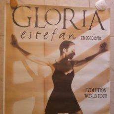 Música de colección: CARTEL GLORIA ESTEFAN EN CONCIERTO. ESTADIO DE LA ROMAREDA, ZARAGOZA. AÑO 1996. Lote 127824479