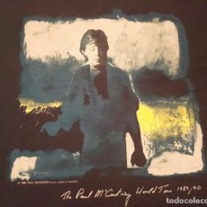 Música de colección: PAUL MCCARTNEY - BEATLES - WORLD TOUR 89 90 - CAMISETA - TALLA XL - OFICIAL. Lote 128014487