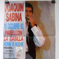 Música de colección: JOAQUIN SABINA.. CARTEL ORIGINAL DE CONCIERTO EN BILBAO. 18 OCT 1992. 29 X 42 CMS.. Lote 128391923