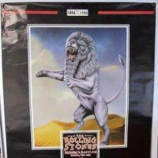 Música de colección: THE ROLLING STONES CARTEL ORIGINAL DE CONCIERTO EN BILBAO 18/6/1998.CENTENARIO ATHLETIC CLUB BILBAO. Lote 128392091