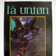 Música de colección: LA UNIÓN, LOBO-HOMBRE EN PARIS (1984).CARTEL HISTÓRICO ORIGINAL PROMOCIONAL. 49 X 70 CMS.. Lote 128392479