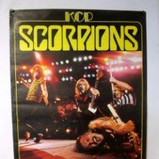 Música de colección: SCORPIONS + BLACKFOOT. CARTEL ORIGINAL DE CONCIERTO DE 1982. 79 X 117 CMS. . Lote 128393171
