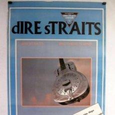 Música de colección: DIRE STRAITS. BROTHERS IN ARMS. CARTEL ORIGINAL DE LA GIRA ESPAÑOLA DE 1985. 63 X 96 CMS.. Lote 128393679