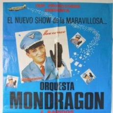 Música de colección: ORQUESTA MONDRAGON & RAPIDOS. CARTEL ORIGINAL DE CONCIERTO EN ALMERIA, 1981?. 90 X 67 CMS. . Lote 128394547