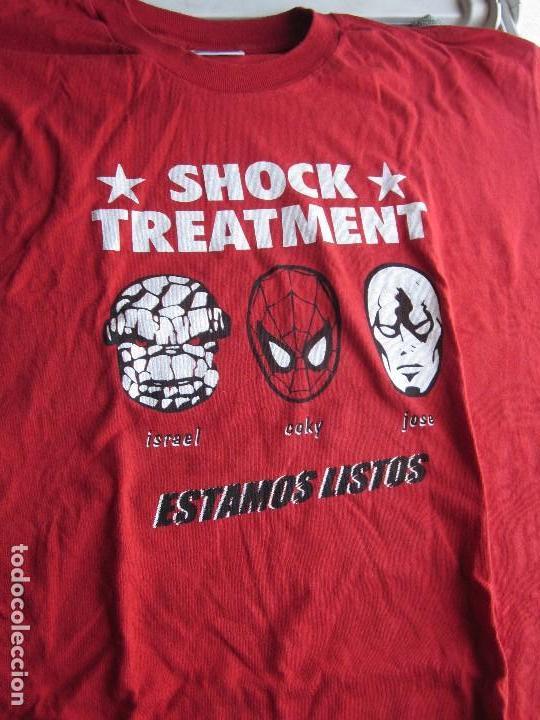 SHOCK TREATMENT - CAMISETA OFICIAL NO TOMORROW AÑOS 90 - TALLA L - USADA EN BUEN ESTADO. (Música - Varios)