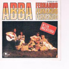 Música de colección: SINGLE ABBA FERNANDO CARNABY 1976. Lote 130358090