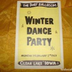 Música de colección: WINTER DANCE PARTY. THE SURF BALLROOM : BUDDY HOLLY, BIG BOPPER Y OTROS,FEBRERO 1959 (PROGRAMA). Lote 130794944