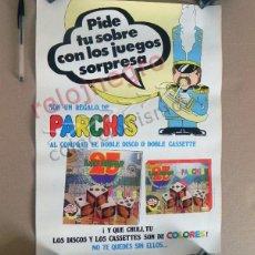 Música de colección: ANTIGUO CARTEL PARCHÍS AÑOS 70 ESPAÑA - GRUPO DE MÚSICA INFANTIL - VINTAGE PÓSTER PUBLICIDAD D DISCO. Lote 130990092