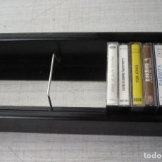 Música de colección: ESTANTERIA PARA CASETES COLOR NEGRO. Lote 131091180