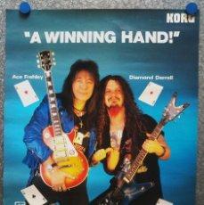 Música de colección: ACE FREHLEY, DIAMOND DARRELL, KORG , A WINNING HAND. AÑO 1996. FOTO LORINDA SULLIVAN. Lote 131434546