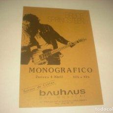 Música de colección: BRUCE SPRINGSTEEN , MONOGRAFICO , SALA BAUHAUS.. Lote 132068882