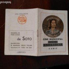 Música de colección: ANTIGUO CANCIONERO CONCHITA PIQUER CONCHA . CINE MUNICIPAL ANDALUCIA CADIZ VER FOTOS. Lote 132602030