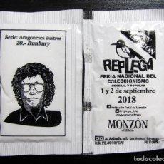 Música de colección: SOBRE AZUCAR ENRIQUE BUNBURY 20 SERIE ARAGONESES ILUSTRES REPLEGA MONZON HUESCA 2018 HDS. Lote 133181570