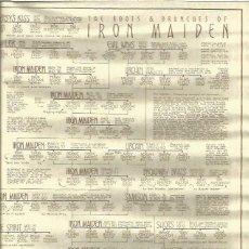 Música de colección: IRON MAIDEN PERGAMINO ARBOL GENEALOGICO DEL GRUPO. Lote 133198470