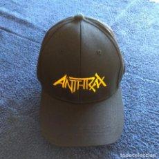 Música de colección: GORRA ANTHRAX - NUEVA - THRASH METAL HEAVY METAL. Lote 134210946
