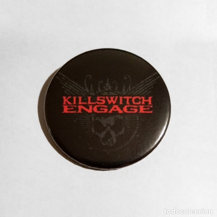 KILLSWITCH ENGAGE - LOGO CHAPA 59mm (CON IMPERDIBLE) - METALCORE