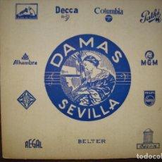 Música de colección: FUNDA DE DE DISCOS DE LA TIENDA CASA DAMAS , SEVILLA.. Lote 134926870
