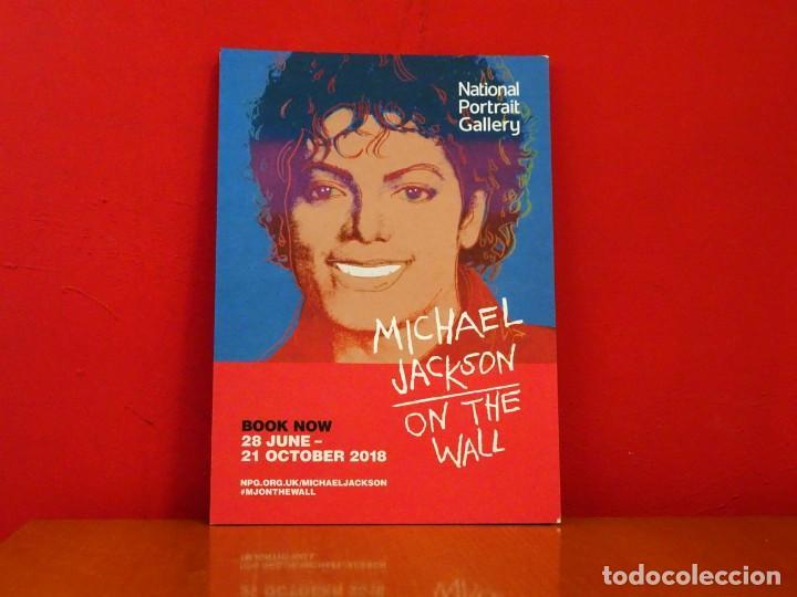 Cartel exposición Michael Jackson On the Wall National Portrait Gallery Londres 2018 segunda mano