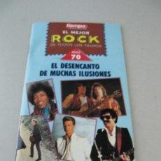 Música de colección: LIBRILLO REVISTA TIEMPO. EL MEJOR ROCK DE TODOS LOS TIEMPOS. AÑOS 70. Lote 135671691