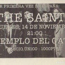 Música de colección: THE SAINTS. TEMPLO DEL GATO. PRECIO ÚNICO: 1000 PESETAS. . Lote 135769414