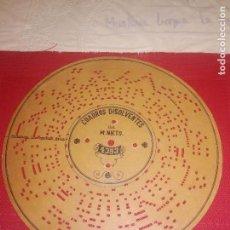 Música de colección: DISCO CARTON SIGLO XIX - PARA ORGANILLO ARISTON - CUADROS DISOLVENTES - ZARZUELA . Lote 135949450