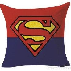Música de colección: SUPERMAN - SUPERMAN ART LOGO !! - EXCLUSIVO COJIN ALGODÓN Y LINO, LIMT EDIT, NUEVO. Lote 136945325