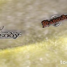 Música de colección: RHAPSODY: FABULOSO PENDIENTE DE METAL + PIN PARA COLECCIONISTAS-UNICO!! HEAVY METAL. Lote 151084709
