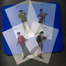 Música de colección: BEATLES - 4 POSTALES TRANSLÚCIDAS . Lote 138774738