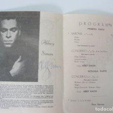 Música de coleção: SOCIEDAD FILARMÓNICA. AUTÓGRAFO DE ABBEY SIMON . LAS PALMAS 1964. Lote 138819246