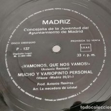 Música de colección: ANTONIO RESINES - MADRIZ (ESPAÑA, 1985. FLEXI-DISC, 7 PULGADAS, 33 ? RPM, SINGLE SIDED, PROMO). Lote 139362770