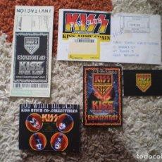 Música de colección: KISS FAN CLUB. PASE ORGANIZACION, INVITACION, VER FOTOS.. Lote 140087538