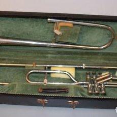Música de colección: TROMBÓN VALVULAR DEL AÑO 1928. ESTUCHE ORIGINAL.. Lote 140390594