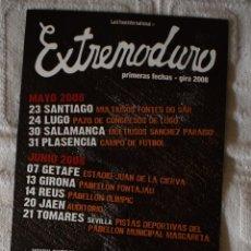 Música de colección: FLYER GIRA 2008 EXTREMODURO. Lote 148957164