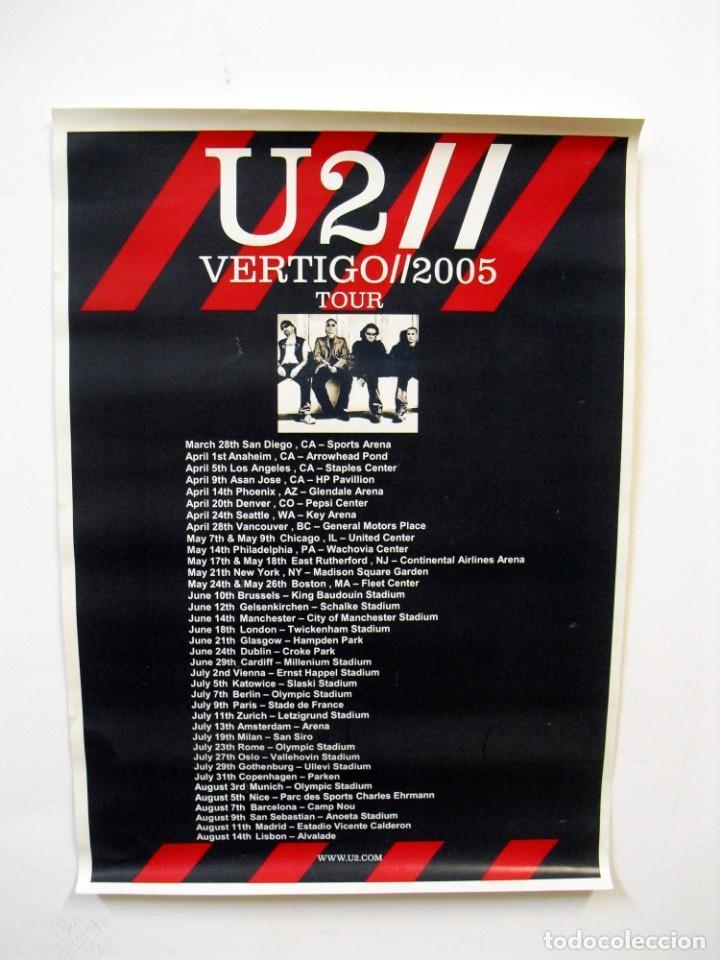 U2: POSTER VERTIGO TOUR 2005-ESPANOL- CON PIN DE METAL DE U2 DE REGALO DE LA GIRA (Música - Varios)