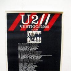 Música de colección: U2: POSTER VERTIGO TOUR 2005-ESPANOL- CON PIN DE METAL DE U2 DE REGALO DE LA GIRA. Lote 141010062