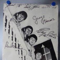 Música de colección: POSTER THE BEATLES - AÑOS 1960-70, JOHN LENNON, PAUL MCCARTNEY, GEORGE HARRISON, RINGO STARR. Lote 141181186