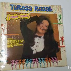 Música de colección: LP: TERESA RABAL, CAN-CAN. CONTIENE: LA CANCIÓN DEL JA...JA...JA..., LA GENTE ES FORMIDABLE. Lote 141418341