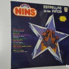 Música de colección: LP, PHILIPS: ESTRELLAS DE LOS NIÑOS. GRUPO NINS - FUTBOL EN ACCION, TE VOY A BORRAR, MARACATU. Lote 141418829