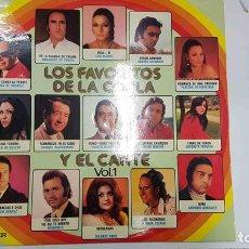 Música de colección: LP: LOS FAVORITOS DE LA COPLA Y EL CANTE VOL 1. FLAMENCOS EN EL CIELO - JUANITO VALDERRAMA, LOLA.... Lote 141419774