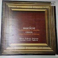 Música de colección: LP: MASCAGNI - CAVALLERIA RUSTICANA, LAMICO FRITZ. CILEA- ADRIANO LECOUVREUR, LARLESIANA. Lote 141422778